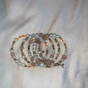 Altar'd State layered, beaded bracelet